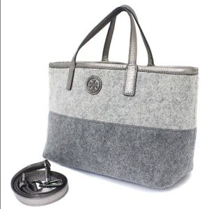 Authentic Tory Burch flannel tote